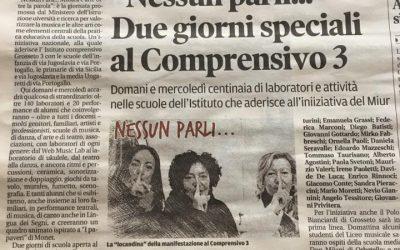 """articolo su """"Nessun Parli"""" – novembre 2017"""