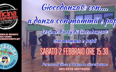 GIOCODANZA® CON… a  danza con mamma e papà – Grosseto 2 febbraio 2019